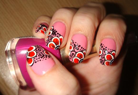 фото рисунки на ногтях акрилом
