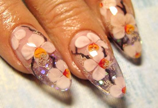 аквариумный дизайн с цветами