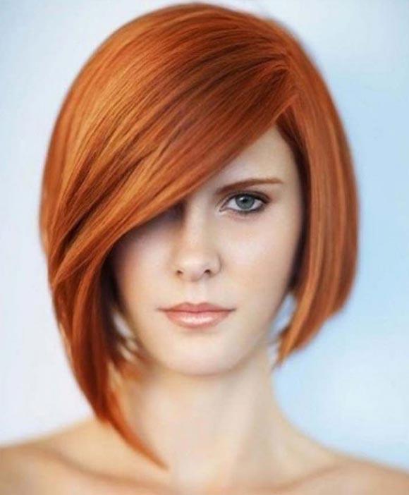 Прическа асимметрия на короткие волосы