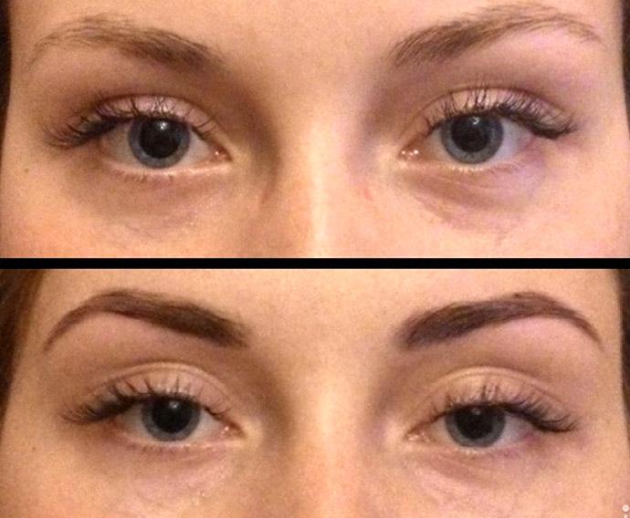 хна для бровей до и после фото
