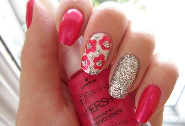 Ногти с цветами дизайн