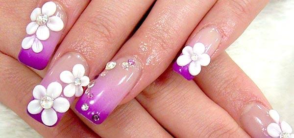 Цветы на ногтях как делать видео