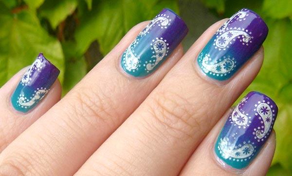 растительный узор огурцы на ногтях