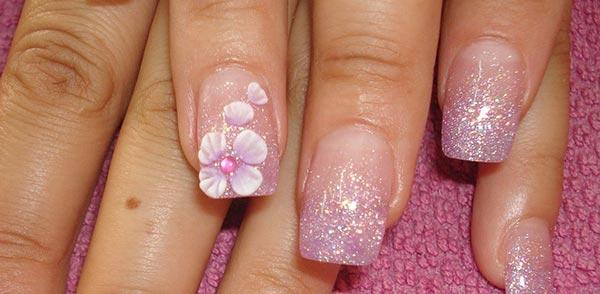 дизайн ногтей крупный цветок