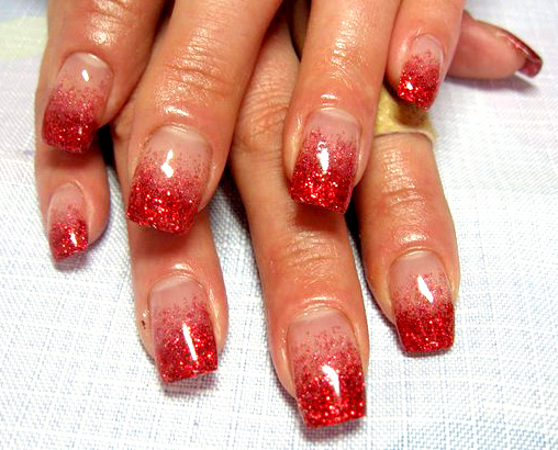 красный дизайн ногтей фото:
