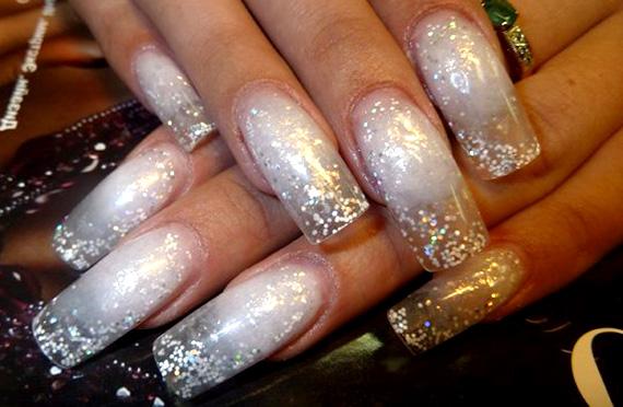 Дизайн ногтей с блёстками на гелевых ногтях фото