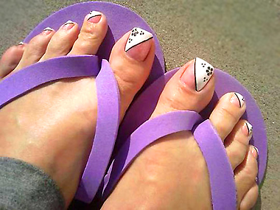 Ногти на ногах пошагово