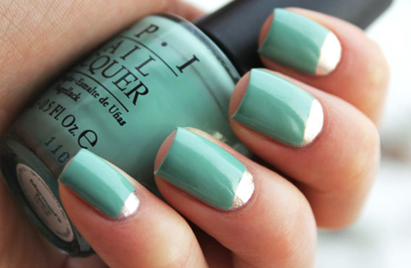 Дизайн ногтей фольга на гель