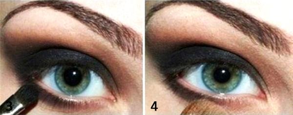красим глаза темными тенями шаг 2
