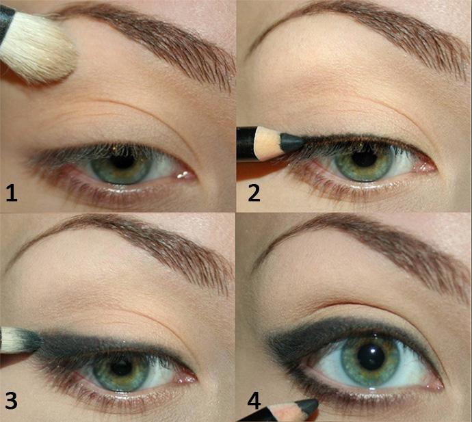 Правильно накрасить глаза пошагово