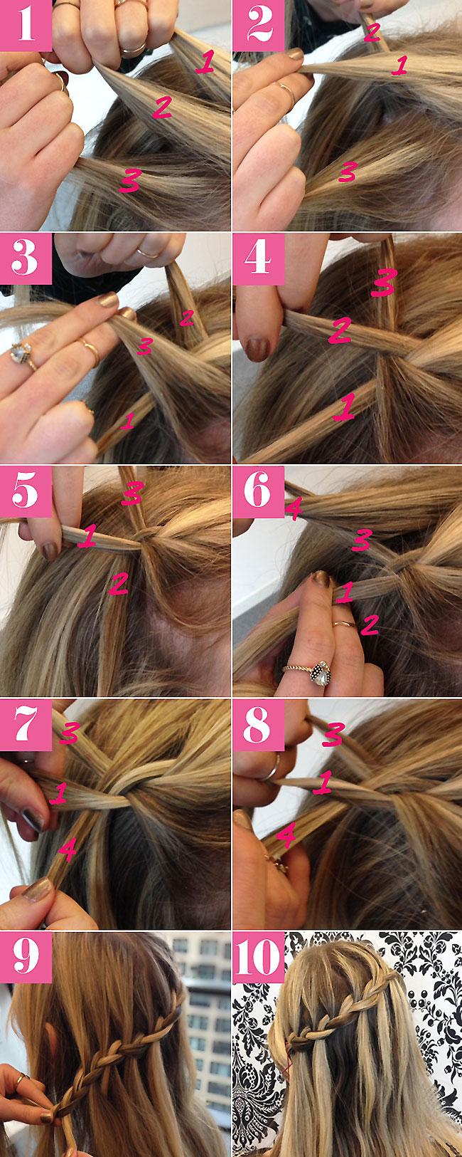 Как плести каскадную косу пошаговая инструкция