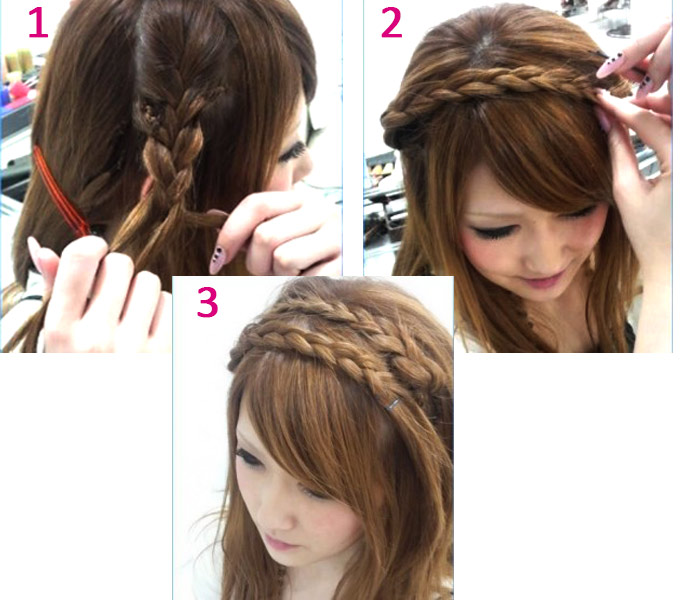 Плетение из волос французской косички