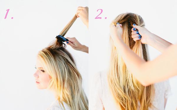как заплести косу рыбий хвост шаг 1