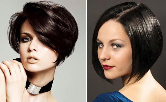 Стрижки на короткие черные волосы фото