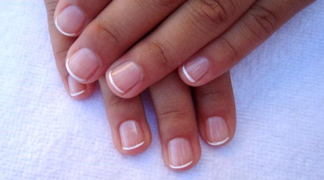 ногти фото френч на коротких ногтях