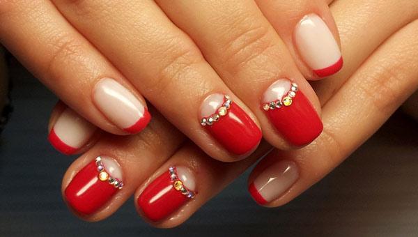 Дизайн красный ногти