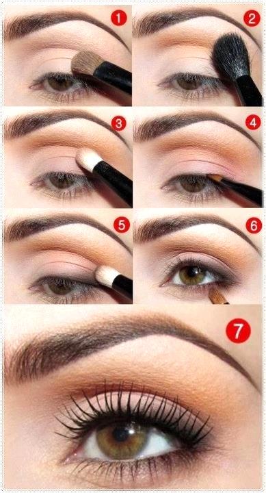 легкий дневной макияж для карих глаз пошагово