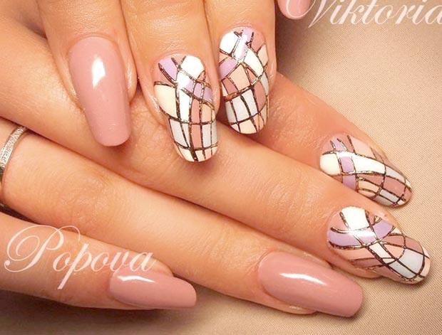 литье на ногтях фото мозаика