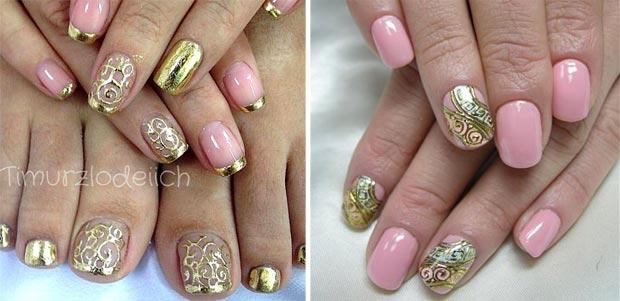 литье на ногтях розовый цвет