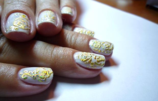 узоры на ногтях литьем