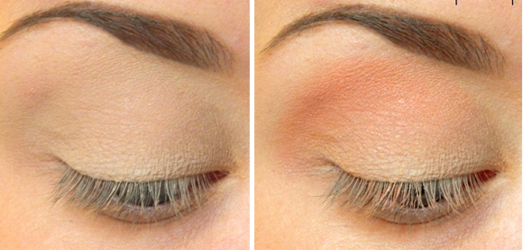 макияж пошагово персиковые тени
