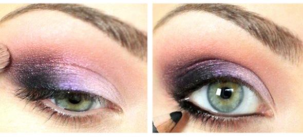 макияж зеленых глаз пошагово. 2 шаг