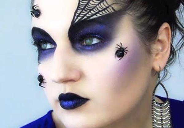 макияж с пауками жуками на хэллоуин