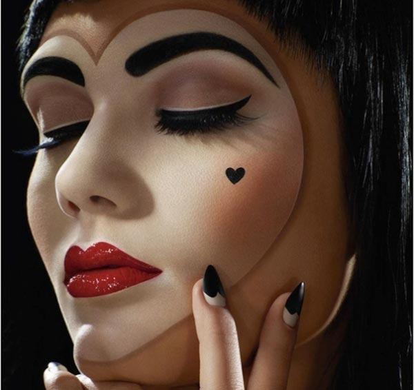 Простой макияж на Хэллоуин, создаем образ самостоятельно For 71