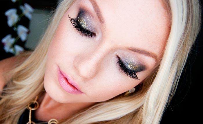 макияж на новый год для блондинки
