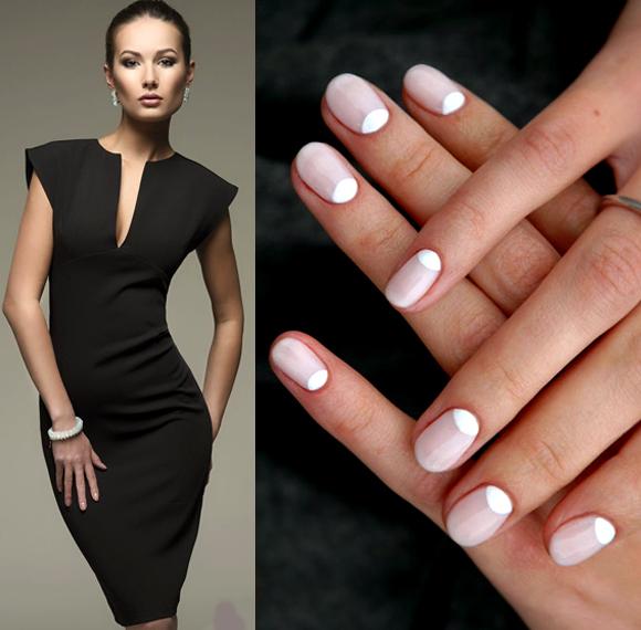 Какие ногти подойдут к белому платью