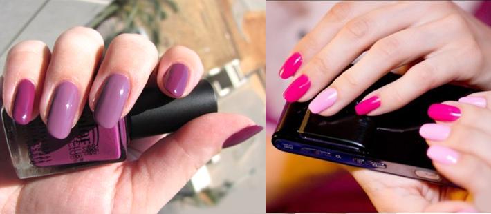 накрасить ногти двумя цветами монохромные цвета
