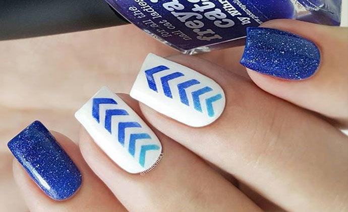 Как делать треугольники на ногтях