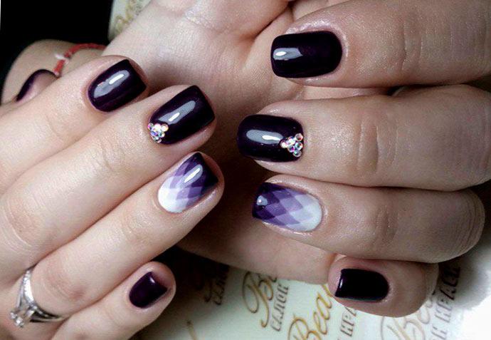 Градиенты на ногтях фото