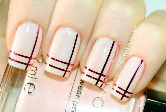 Ногти с полосочками дизайн