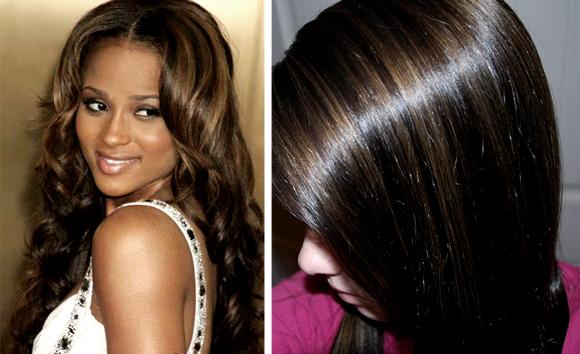 Сделать колорирование на темные волосы