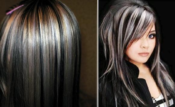 Фото мелирование темных волос