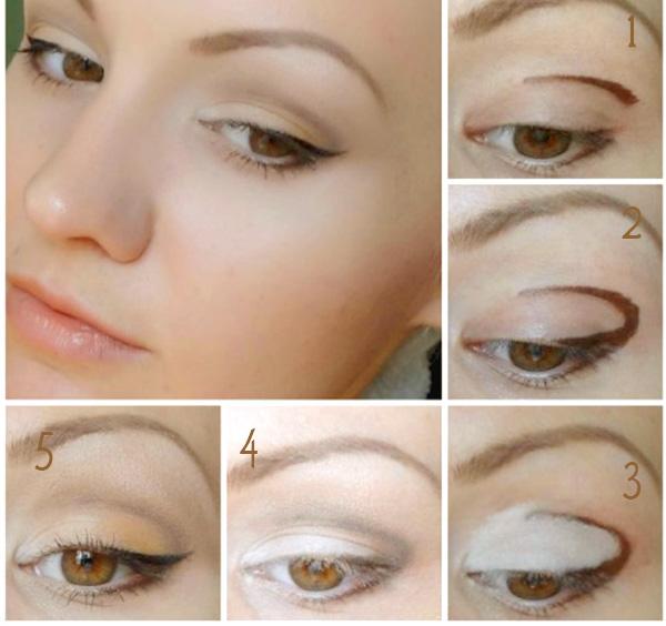как накрасить глаза карандашная техника