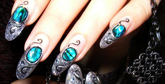 Имитация камня в дизайне ногтей