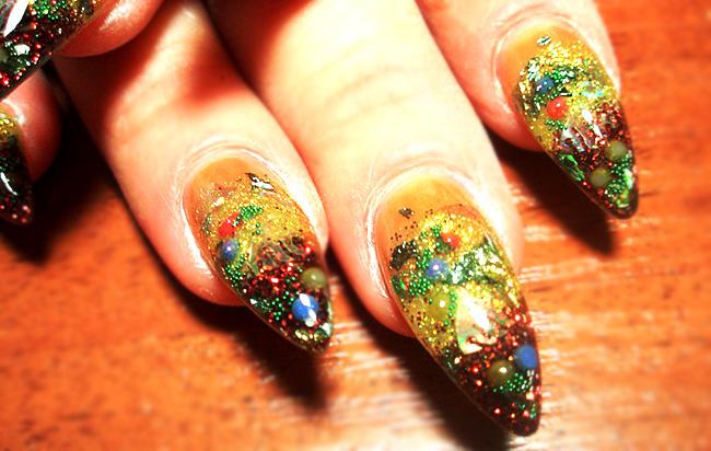 Заостренные ногти дизайн фото