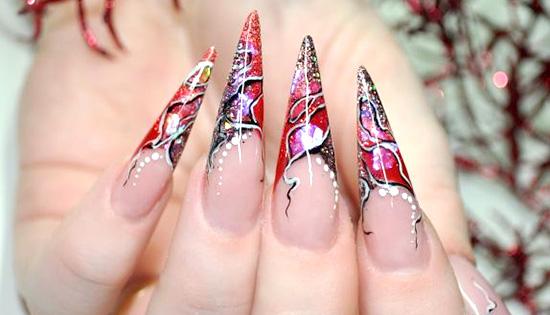 заостренные ногти в аквариумном дизайне