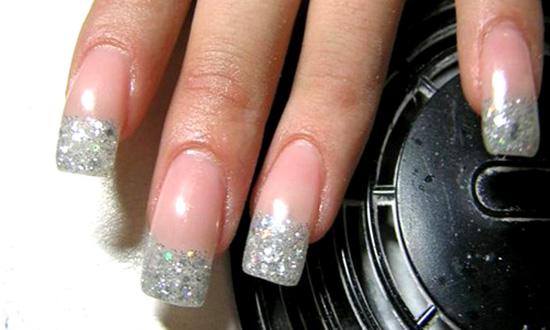 Нарощенные ногти дизайн простой