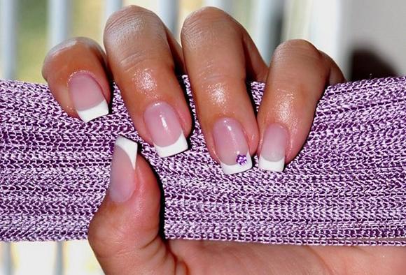 нарощенные ногти фото белого френча