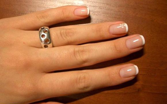Маникюр наращивание гелем на свои ногти 82