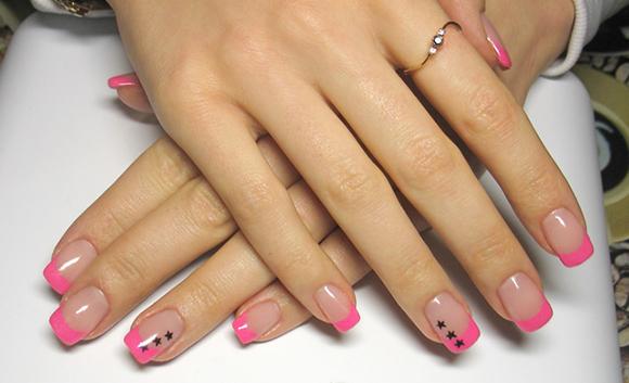 фото черного френча на ногтях