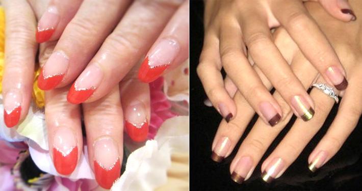 Дизайн ногтей с двумя цветами на разных ногтях фото