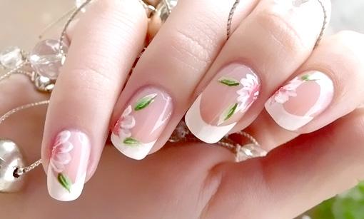 Ногти дизайн фото френч цветы