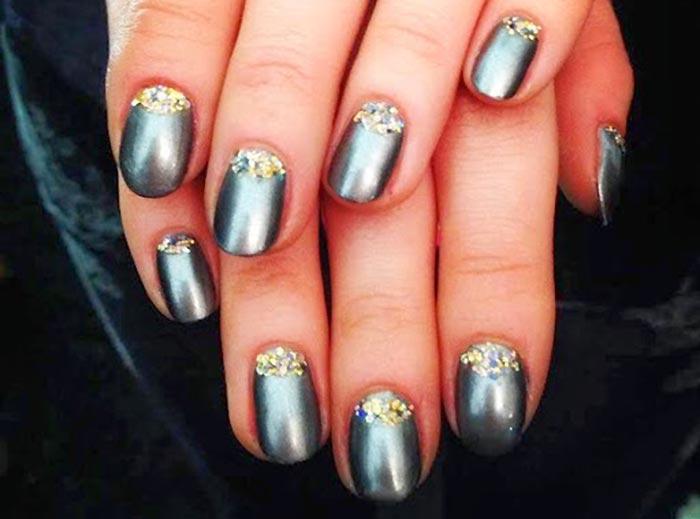 Гель лак фото ногтей дизайн новогодние