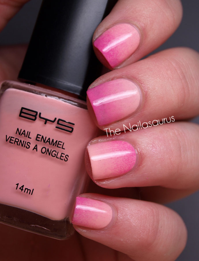 Маникюр омбре фото розовый
