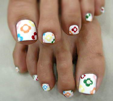 Ногти ноги дизайн