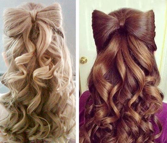 Прическа на 1 сентября 7 класс на длинные волосы